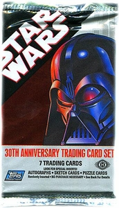 Star Wars 30th Anniversary Topps Trading Cards Pack