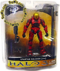 Halo 3 McFarlane Toys Series 1 Action Figure Red Spartan Soldier [EVA Armor]