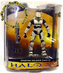 Halo 3 McFarlane Toys Series 1 Exclusive Action Figure WHITE Spartan Soldier [Mark VI]