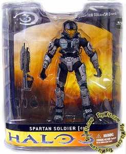 Halo 3 McFarlane Toys Series 1 Exclusive Action Figure STEEL Spartan Soldier CQB [Close Quarter Battle] COLLECTOR'S CHOICE!