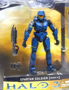 Halo 3 McFarlane Toys Series 1 Exclusive Action Figure BLUE Spartan Soldier [MARK VI Armor] COLLECTOR'S CHOICE!