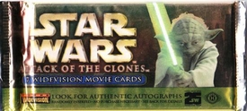 Topps Star Wars Attack of the Clones Movie WIDEVISION Trading Card Pack