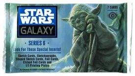Topps Star Wars Galaxy Series 6 HOBBY EDITION Trading Cards Pack