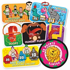 Banditz Games Rubber Band Carnival Game Set [Includes 24 Rubber Bandz!]