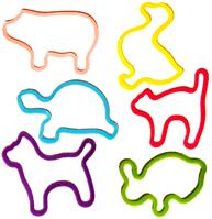 Silly Bandz Shaped Rubber Bands Bracelets 24-Pack Pet Shapes