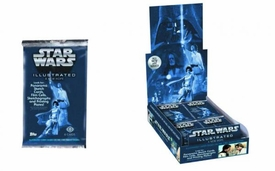 Star Wars Illustrated Trading Card Box Pre-Order ships March