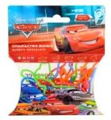 Disney Logo Bandz Shaped Rubber Band Bracelets 20-Pack Cars Movie