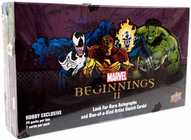 Upper Deck 2012 Marvel Beginnings Series 2 Trading Card Hobby Box [24 Packs]