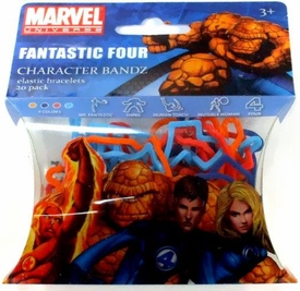 Marvel Logo Bandz Shaped Rubber Band Bracelets 20-Pack Fantastic Four