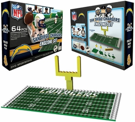 OYO Football NFL Generation 1 Team Field Endzone Set San Diego Chargers