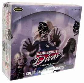 Marvel Comics Trading Cards Hobby Box Dangerous Divas
