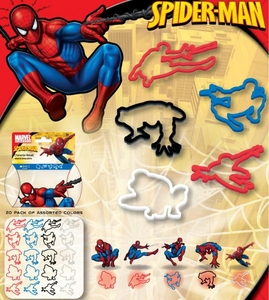 Marvel Logo Bandz Shaped Rubber Band Bracelets 20-Pack Spider-Man BLOWOUT SALE!