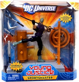 Young Justice 6 Inch Deluxe Action Figure Sportsmaster [Sculpted Diorama]