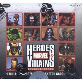 Marvel Rittenhouse Trading Cards Heroes and Villains Box [24 Packs]