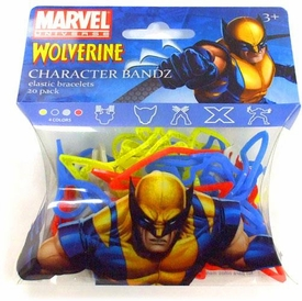 Marvel Logo Bandz Shaped Rubber Band Bracelets 20-Pack Wolverine