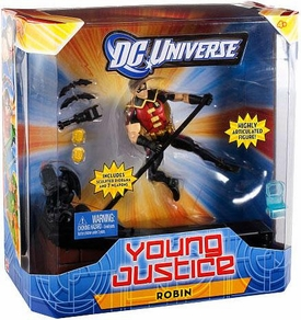 Young Justice 6 Inch Deluxe Action Figure Robin [Includes 7 Weapons!]