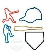 Silly Bandz Shaped Rubber Bands Bracelets 48-Pack Baseball Shapes