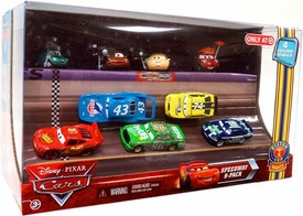 Disney / Pixar CARS Movie Exclusive 1:55 Die Cast Car Piston Cup Nights Speedway 9-Pack  [Dash Boardman, Houser Boon, Tim Rimmer, Timothy Twostroke, McQueen, King, Chick, Sidewall Shine & Clutch Aid]