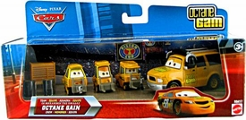 Disney / Pixar CARS Movie 1:55 Die Cast 4-Pack Team Octane Gain Crew [Includes Octane Crew Chief!]