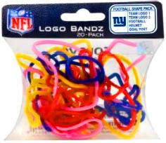 Logo Fan Bandz Sports Shaped Rubber Bands 20-Pack New York Giants Super Bowl XLVI Champions!