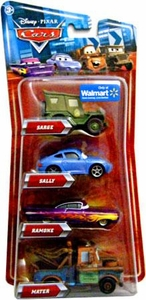 Disney / Pixar CARS Movie Exclusive 1:55 Die Cast 4-Pack Sarge, Ramone, Mater & Sally