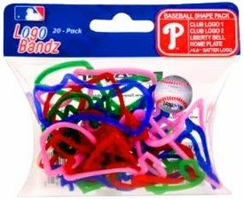 Logo Fan Bandz Sports Shaped Rubber Bands 20-Pack Philadelphia Phillies