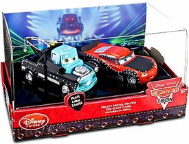 Disney / Pixar CARS TOON Exclusive 1:48 Die Cast 2-Pack Heavy Metal Mater [Mater & McQueen]