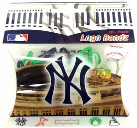Logo Fan Bandz Sports Shaped Rubber Bands 20-Pack New York Yankees [Version 2]