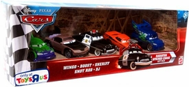 Disney / Pixar CARS Movie Exclusive 1:55 Die Cast Car 5-pack Gift Pack Radiator Springs Chase  [Wingo, Boost, Sheriff, Snot Rod & DJ]