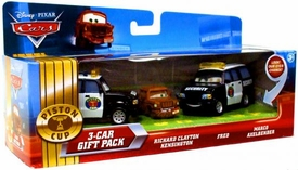 Disney / Pixar CARS Movie 1:55 Die Cast Cars with Lenticular Eyes 3-Car Gift Pack Richard Clayton Kensington, Fred & Marco Axelbender