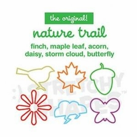 Stretchy Shapes Shaped Rubber Bands Bracelets 24-Pack Nature Trail