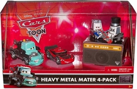 Disney / Pixar CARS Movie Exclusive 1:55 Die Cast 4-Pack Heavy Metal Mater [Lightning McQueen, Mater, Pittys Rocky & Eddie]