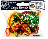 Logo Fan Bandz Sports Shaped Rubber Bands 20-Pack Boston Bruins