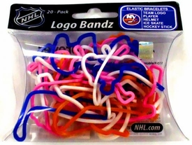 Logo Fan Bandz Sports Shaped Rubber Bands 20-Pack New York Islanders