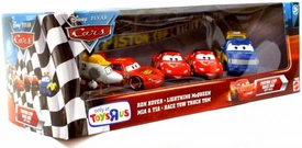 Disney / Pixar CARS Exclusive 1:55 Die Cast 5-Pack Piston Cup Race Day #2 [Ron Hover, Lightning McQueen, Mia & Tia & Race Tow Truck Tom]