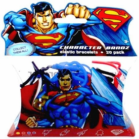 Logo Bandz Shaped Rubber Band Bracelets 20-Pack Superman BLOWOUT SALE!