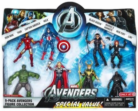 Marvel Avengers Exclusive Action Figure 8-Pack Avengers Collection [Iron Man, Thor, Captain America, Hulk, Black Widow, Hawkeye, Nick Fury & Loki]