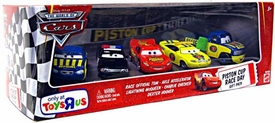 Disney / Pixar CARS Exclusive 1:55 Die Cast 5-Pack Piston Cup Race Day #1 [Race Official Tom, Axle Accelerator, Lightning McQueen, Charlie Checker & Dexter Hoover]
