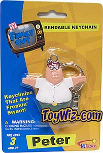 Family Guy Bendable Keychain Peter