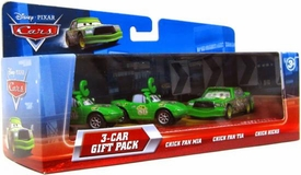 Disney / Pixar CARS Movie 1:55 Die Cast Cars with Lenticular Eyes 3-Car Gift Pack Chick Fan Mia, Chick Fan Tia & Chick Hicks