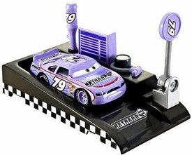 Disney / Pixar CARS Movie 1:55 Die Cast Car with Launcher Pit Row Race-Off Retread #79