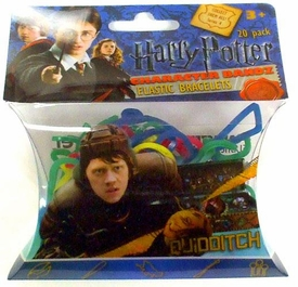 Logo Bandz Shaped Rubber Band Bracelets 20-Pack Harry Potter Quidditch