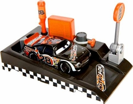 Disney / Pixar CARS Movie 1:55 Die Cast Car with Launcher Pit Row Race-Off Nitroade #28