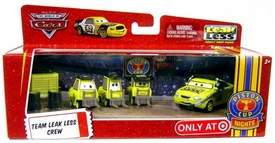 Disney / Pixar CARS Movie 1:55 Die Cast 4-Pack Team Leak Less Crew [Includes Leak Less Crew Chief!]