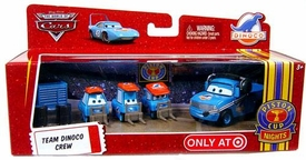 Disney / Pixar CARS Movie 1:55 Die Cast 4-Pack Team Dinoco Crew [Includes Dinoco Crew Chief!] {Random Package}