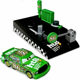 Disney / Pixar CARS Movie 1:55 Die Cast Car with Launcher Pit Row Race-Off Chick Hicks