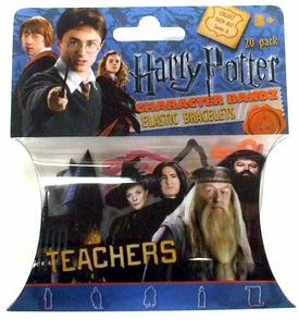 Logo Bandz Shaped Rubber Band Bracelets 20-Pack Harry Potter Teachers