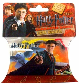 Logo Bandz Shaped Rubber Band Bracelets 20-Pack Harry Potter