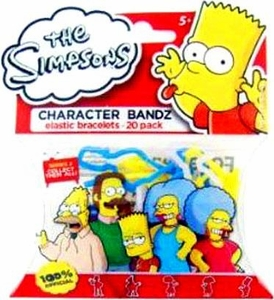 Character Bandz Shaped Rubber Band Bracelets 20-Pack The Simpsons [Series 2]