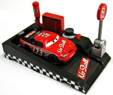 Disney / Pixar CARS Movie 1:55 Die Cast Car with Launcher Pit Row Race-Off No Stall #123